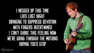 I'm A Mess - Ed Sheeran (Lyrics)