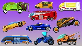 kids tv channel | futuristic street vehicles | cartoon cars for children