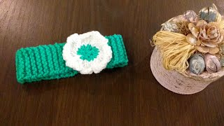 How to Knit HEADBAND | Knit headband with flower With Written Instructions