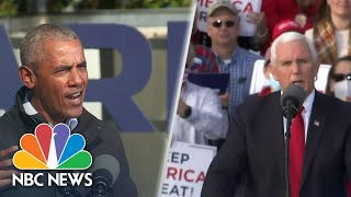 Obama, Pence Hold Dueling Rallies In Georgia Ahead Of Senate Runoff | NBC Nightly News