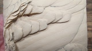 Bluewinged Teal Drake Wing  Feather Carving Demonstration  Part 1