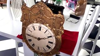 Early Carilion Glass Bell Clock