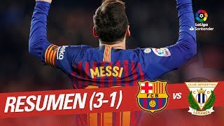 Resumen de FC Barcelona vs CD Leganés (3-1)