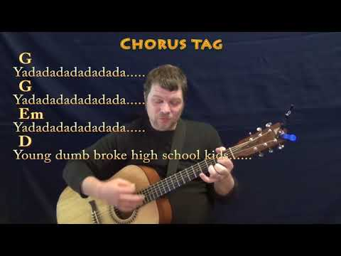 Young Dumb & Broke (Khalid) Guitar Cover Lesson In G With Chords/Lyrics - G Em D Mp3