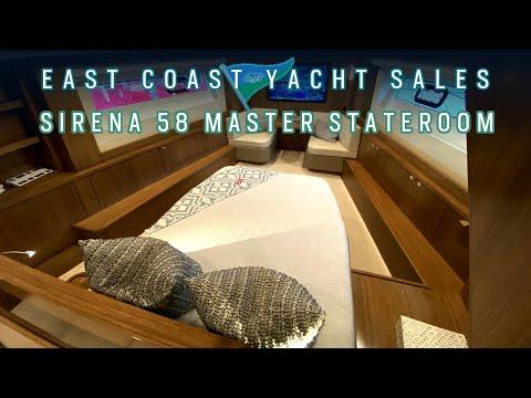 Sirena 58 forward master 3-stateroom layout