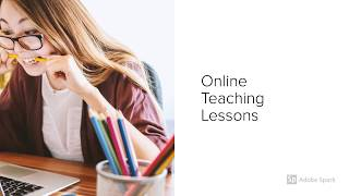Online Teaching Lessons