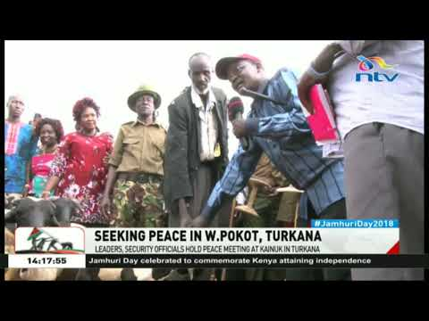 Leaders, security officials hold peace meeting at Kainuk in Turkana