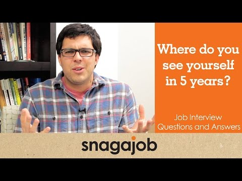 JOB INTERVIEW questions and answers (Part 1): Where do you see yourself in 5 years?