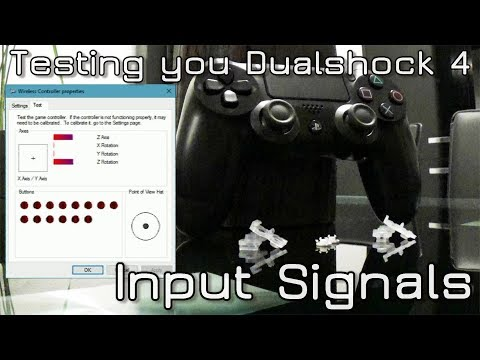 How to Test Dualshock 4 Input Signals on PC