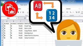 Convert Text to Numbers or Numbers to Text