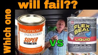 Flex Seal, Turbo Poly Seal, Super Silicone Seal comparison and flexibility and strength test