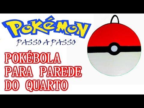 Como fazer uma Pokébola para parede do quarto (Pokémon Go) com CD