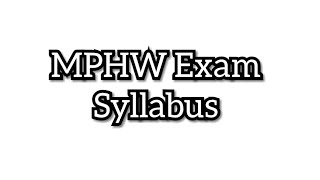 mphw course syllabus - Free video search site - Findclip