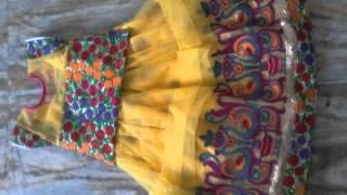 Latest Designer Langa & blouses for kids