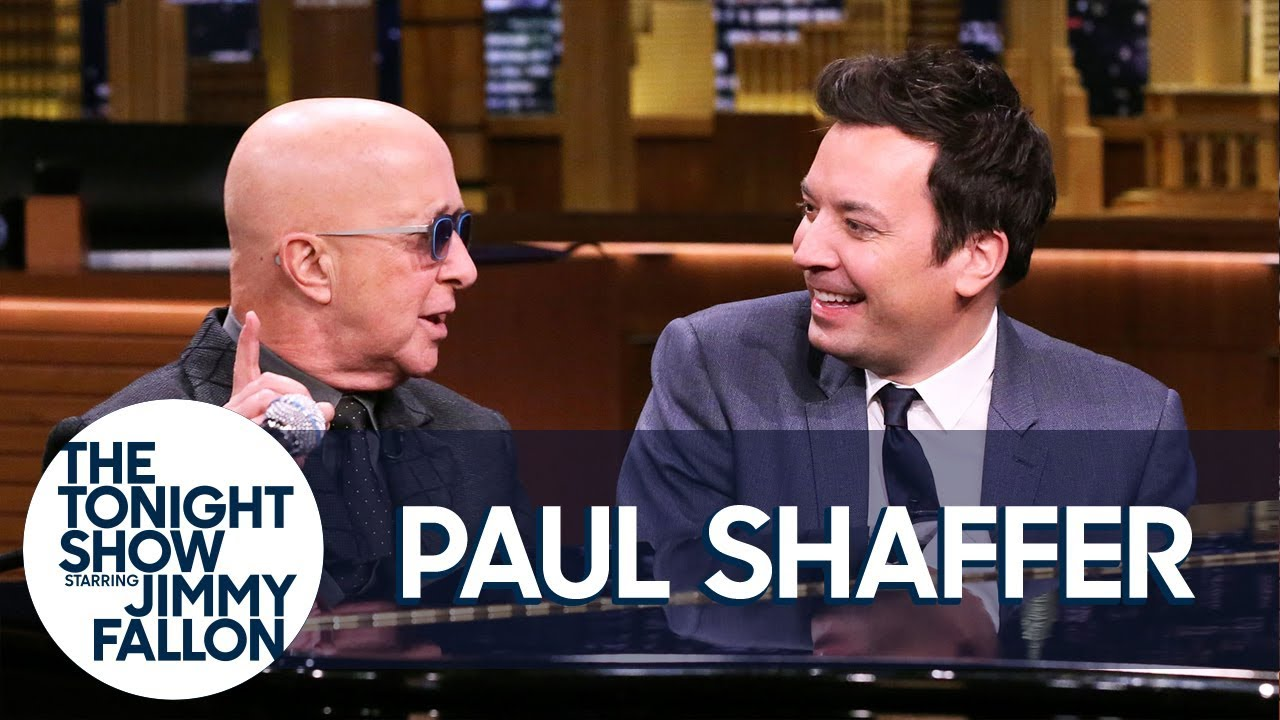 Paul Shaffer Noodles on the Piano While Jimmy Interviews Him About SNL, Letterman thumbnail