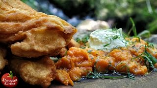 Langos and apricot jam – forest cooking