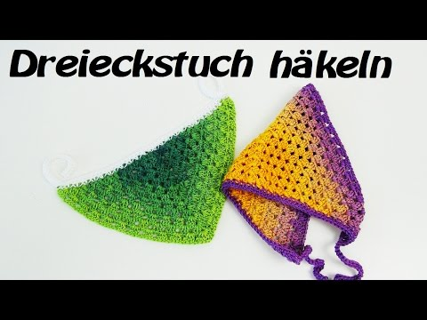 Dreieckstuch HÄKELN | Sommer - Bandana | DREIECKSTUCH häkeln für Anfänger
