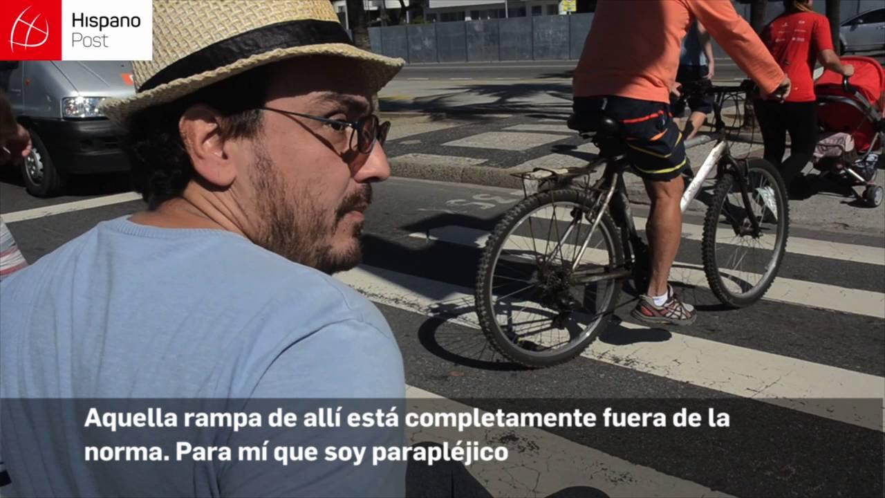 Minusválidos no cuentan con las condiciones para moverse en Río de Janeiro