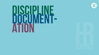 HR Basics: Discipline Documentation