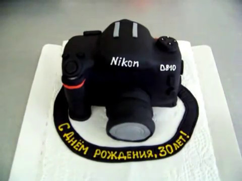 Идея торта в виде фотоаппарата