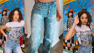 DIY LV BLEACH JEANS | MONTES TWINS |