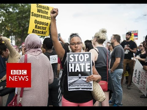 Charlottesville: Violent clashes over US far-right rally - BBC News