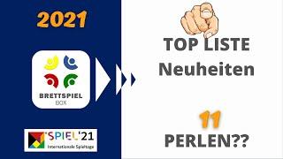 Brettspiel Neuheiten Herbst 2021 | SPIEL 21  TOP 11 Perlen   Brettspielbox