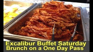 Excalibur Buffet (Vegas) Saturday Brunch on a One-Day Pass : Full Review & Tips - Video Youtube
