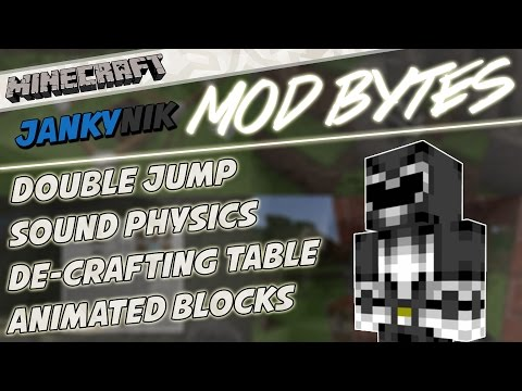 Minecraft Mod ShowCases: Double Jumping, Sound Physics, Animated Blocks & De-Crafting Table!
