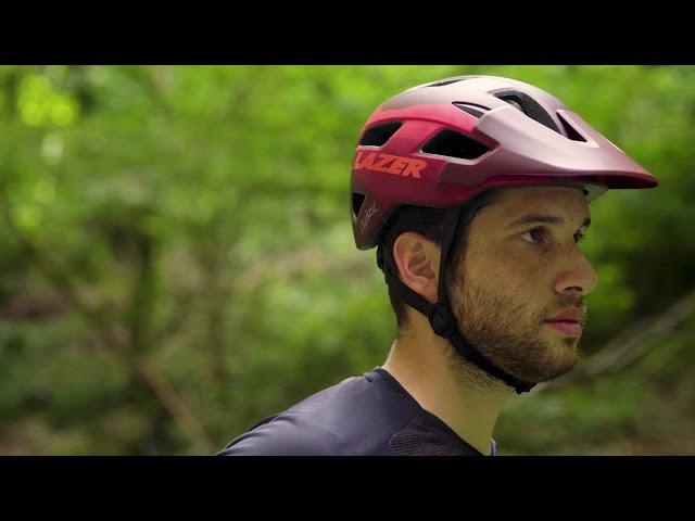 Видео Шлем Lazer Chiru сине-розовый(матовый)