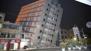 Video CCTV DetikDetik Gempa 64 SR Guncang Taiwan Banyak Bangunan Yang Roboh