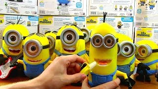 Massive Set Minions 2015 Exclusive Electronic Toys - Singing & Dancing Bob, Stuart and Kevin