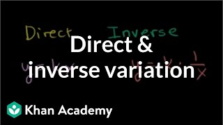 Direct And Inverse Variation | Rational Expressions | Algebra II | Khan Academy