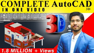 [ COMPLETE ] AutoCAD 3D IN 2 HOURS IN HINDI | CIVIL | ARCH | INTERIOR | MECHANICAL