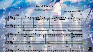 【楽譜】Grand Escape [グランドエスケープ] - RADWIMPS feat.三浦透子 / Weathering With You『天気の子』