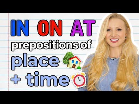 Předložky místa a času – IN / ON / AT - Lekce angličtiny