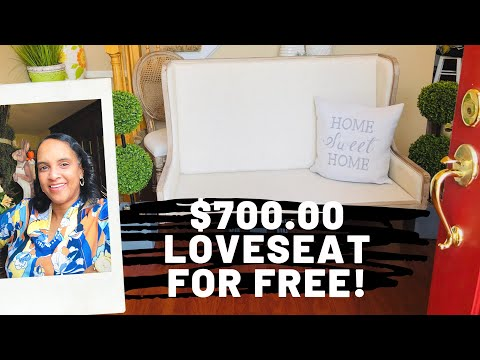 Trash to Treasure FREE Find Furniture $700 Loveseat for FREE‼️by The Frugalnista