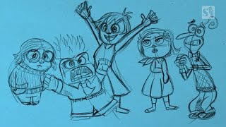 How to Draw the Inside Out Characters: Joy, Anger, Fear, Disgust and Sadness
