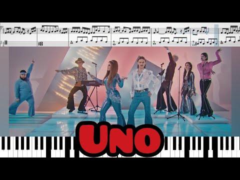 Little Big - Uno (на пианино + ноты и миди)