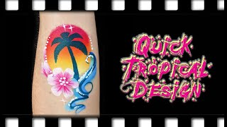Quick Tropical Face Painting/Arm Design