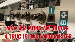 MÁY PHAY MỘNG ÂM DƯƠNG 4 TRỤC 16 DAO WOODMASTER | WM-4x4A