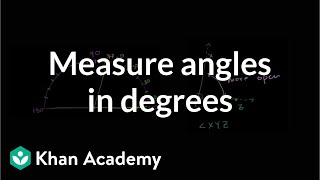 Measuring Angles in Degrees