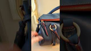 Dooney & Bourke Medium Florentine Satchel In The Color Denim