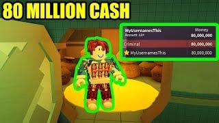 BACON HAIR gets 80 MILLION JAILBREAK CASH | Roblox Jailbreak Update