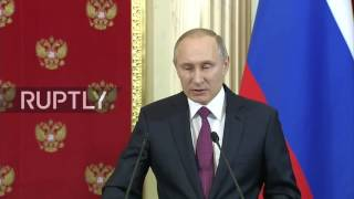 Russia: Vladimir Putin comments on Trump