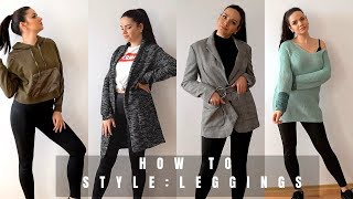 7 WAYS TO WEAR LEGGINGS SPRING 2019 | How To Style Leggings