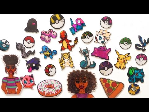 DIY Shrinky Dink Art & Keychains