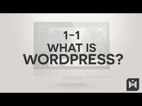 WordPress for Beginners 2015 Tutorial Series | Chapter 1-1: What is WordPress?