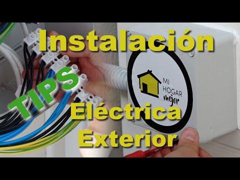 Instalación eléctrica exterior | Electricidad para caseta de jardín | Instalación eléctrica vivienda