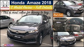 Amaze 2018 S Model Review | New Amaze S Interior,Feature,Price | Amaze 2018 Grey modern steel colour
